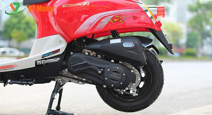 Động cơ 50cc khỏe khoắn, tiết kiệm nhiên liệu